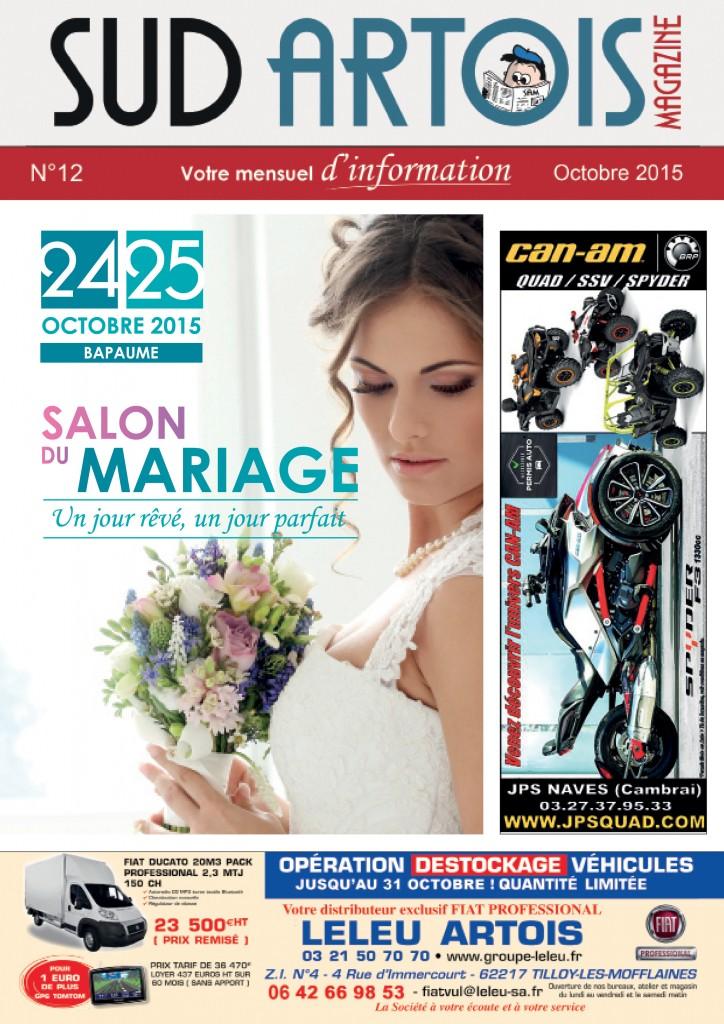 Couverture Sud Artois Magazine Octobre 2015