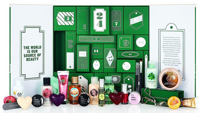 Calendrier the body shop
