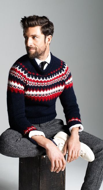 pull jacquard homme 2015