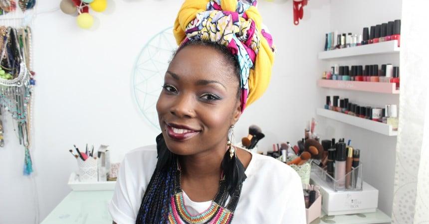 wax turban look maquillage