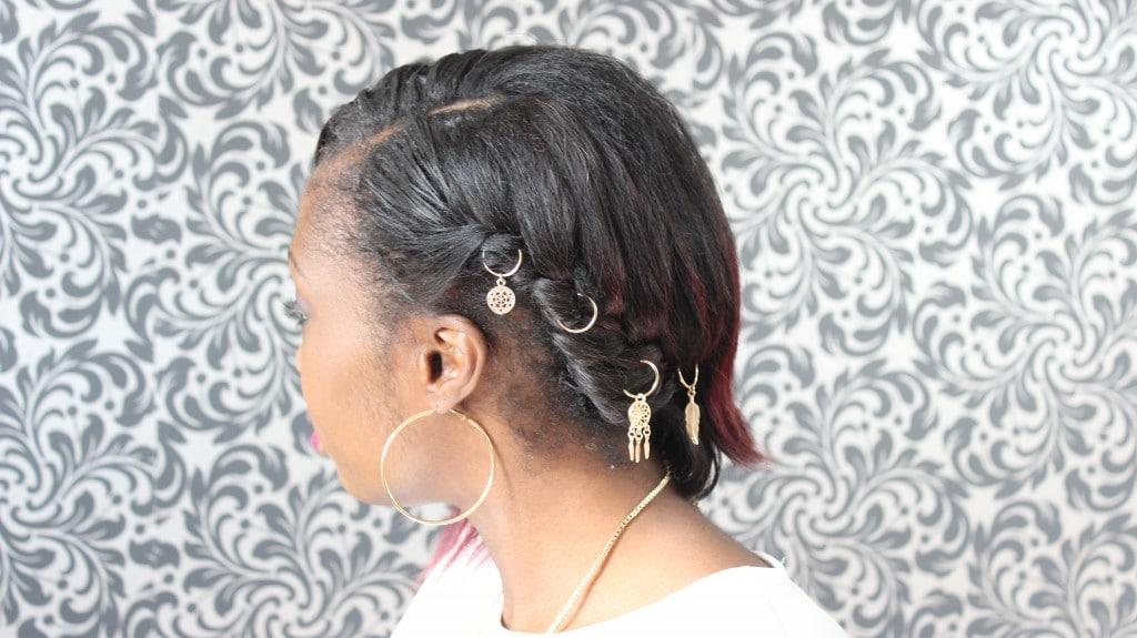 anneau cheveux original