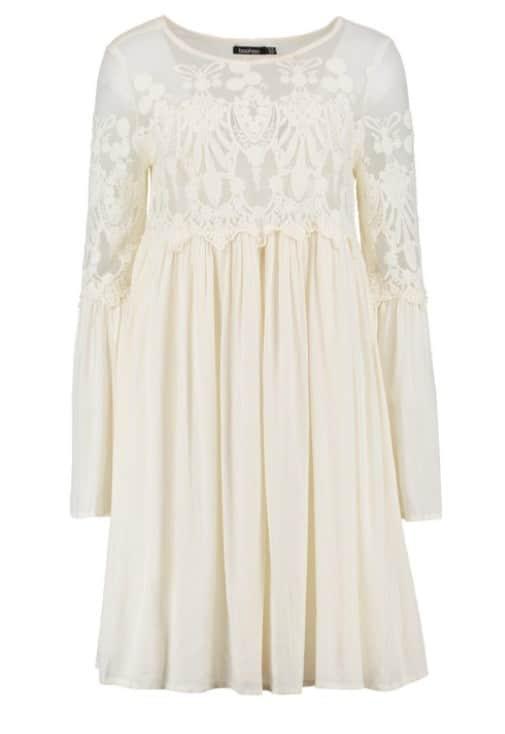 robe blanche boohoo
